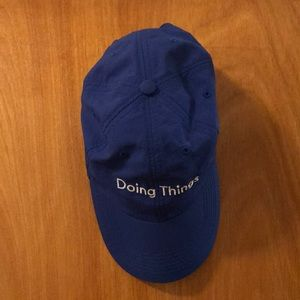 Outdoor Voices Doing Things Hat Royal Blue NWOT